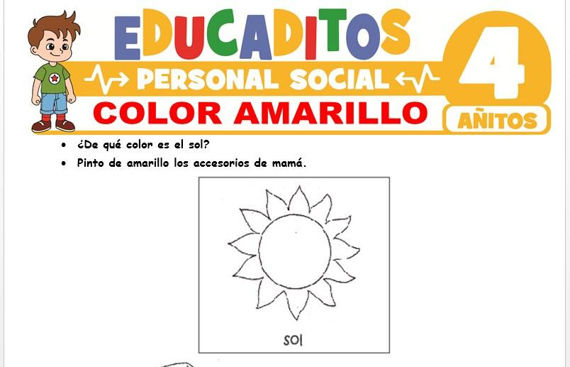Color Amarillo para Niños de 4 Años