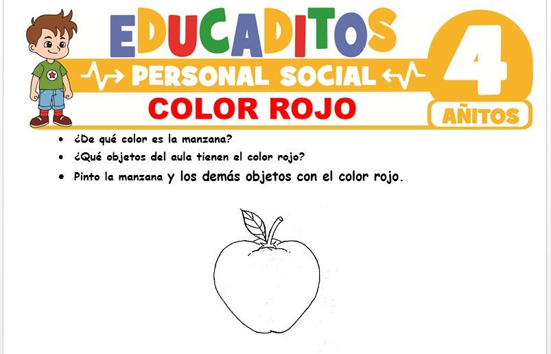 Color Rojo para Niños de 4 Años