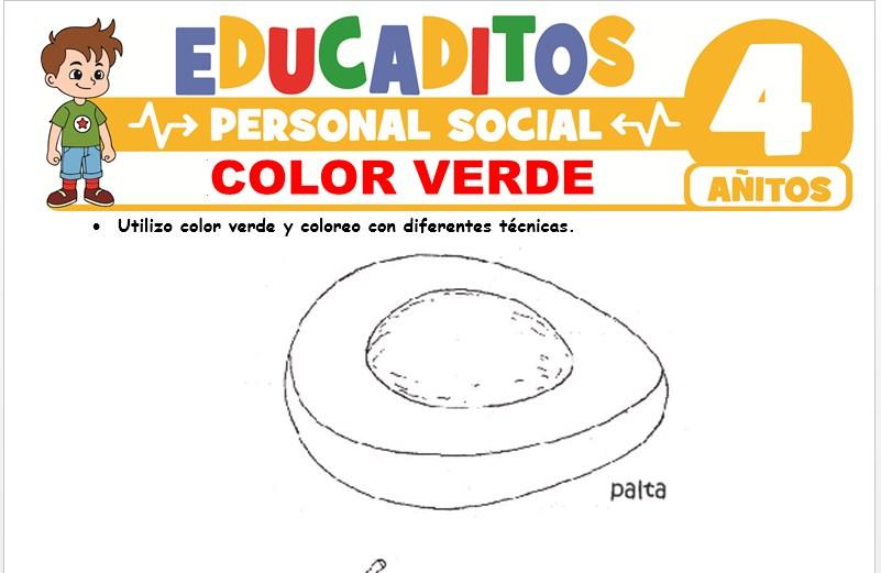 Color Verde para Niños de 4 Años