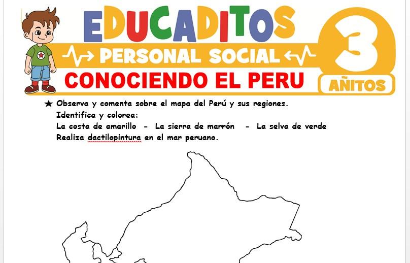Conociendo el Perú para Niños de 3 Años