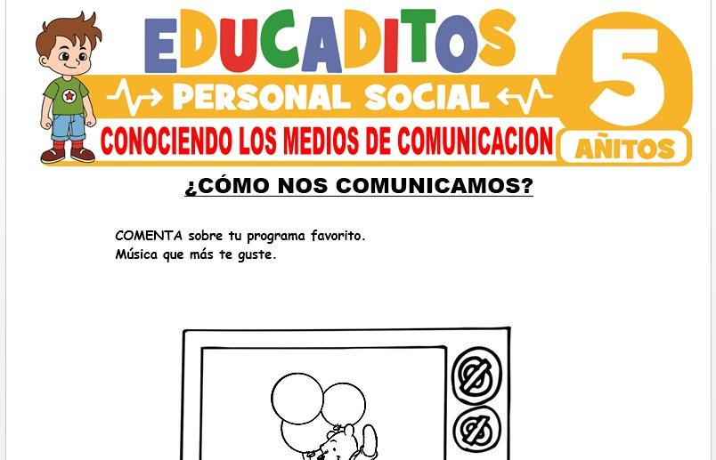 Conociendo los Medios de Comunicación para Niños de 5 Años