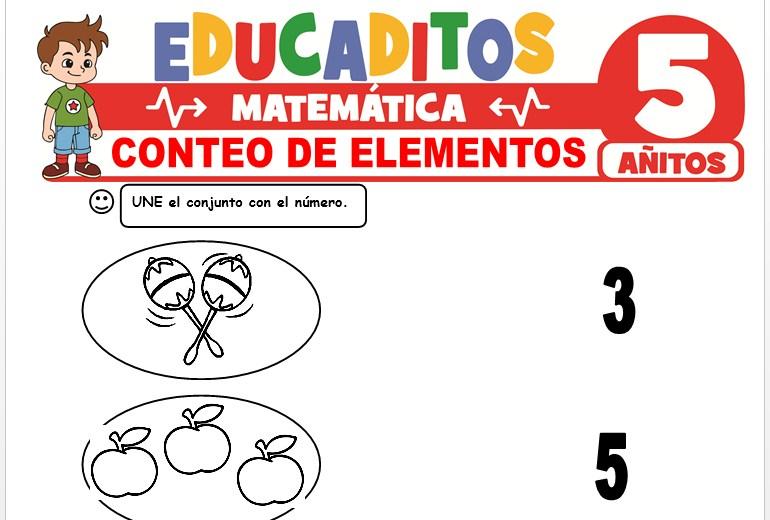 Conteo de Elementos para Niños de 5 Años