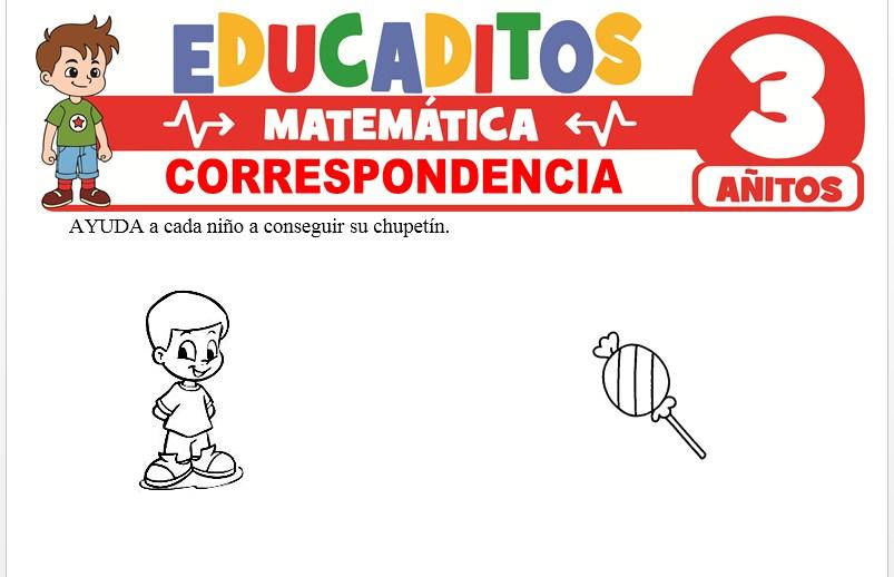 Correspondencia para Niños de 3 Años
