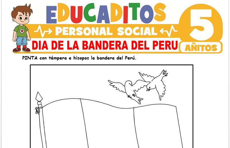 Día de la Bandera del Perú para Niños de 5 Años