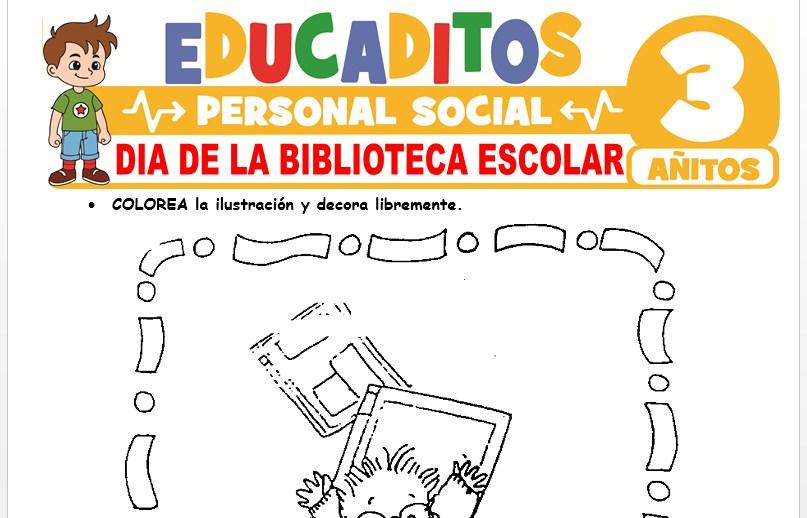 Día de la Biblioteca Escolar para Niños de 3 Años