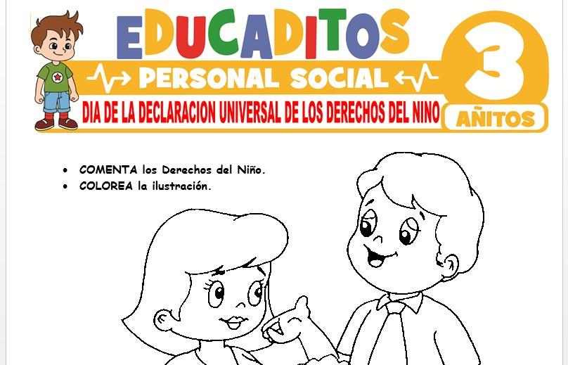 Día de la Declaración Universal de los Derechos del Niño para Niños de 3 Años