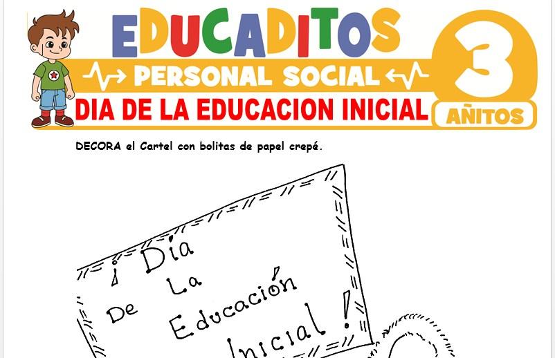 Día de la Educación Inicial para Niños de 3 Años