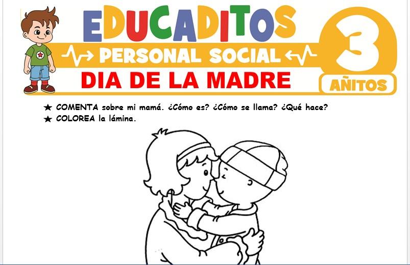 Día de la Madre para Niños de 3 Años