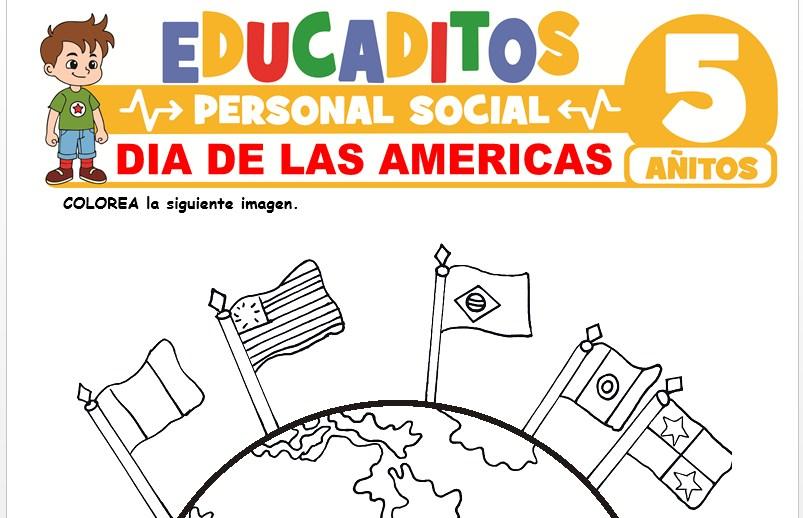 Día de las Americas para Niños de 5 Años