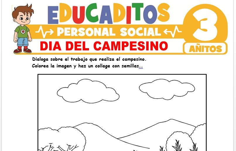 Día del Campesino para Niños de 3 Años