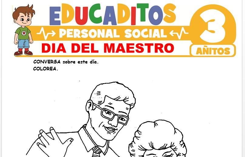 Día del Maestro para Niños de 3 Años