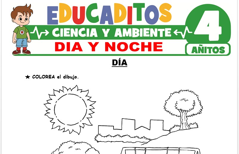Día y Noche para Niños de 4 Años