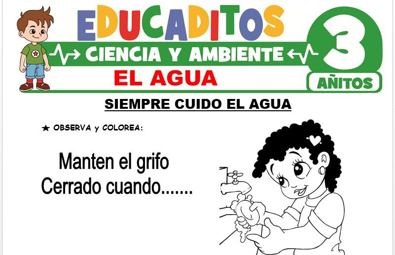 El Agua para Niños de 3 Años