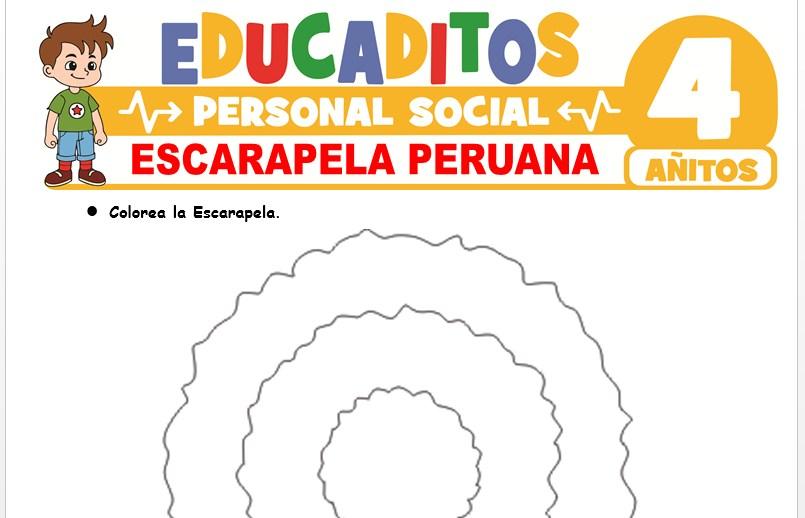 Escarapela Peruana para Niños de 4 Años