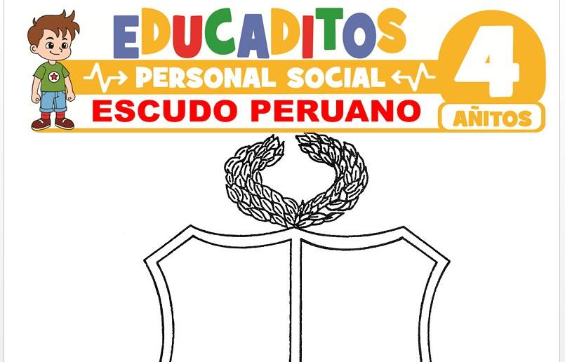 Escudo Peruano para Niños de 4 Años