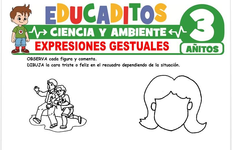 Expresiones Gestuales para Niños de 3 Años