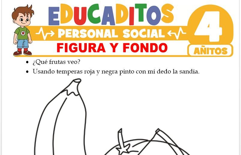 Figura y Fondo para Niños de 4 Años