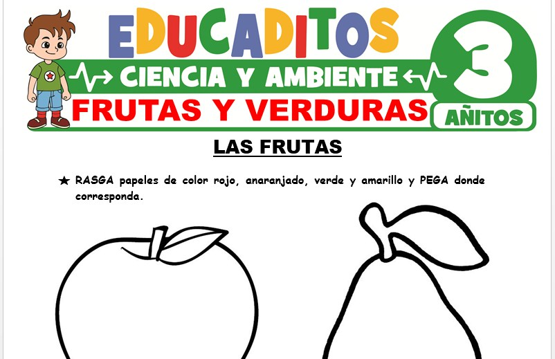 Frutas y Verduras para Niños de 3 Años