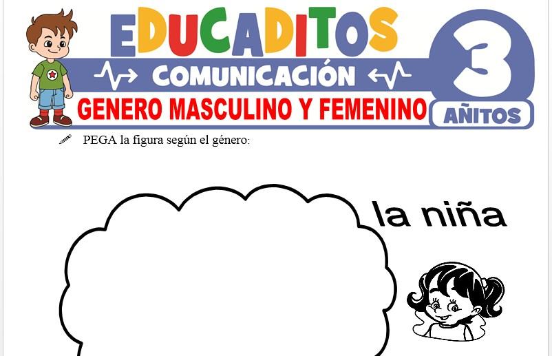 Género Masculino y Femenino para Niños de 3 Años