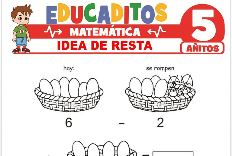 Idea de Resta para Niños de 5 Años