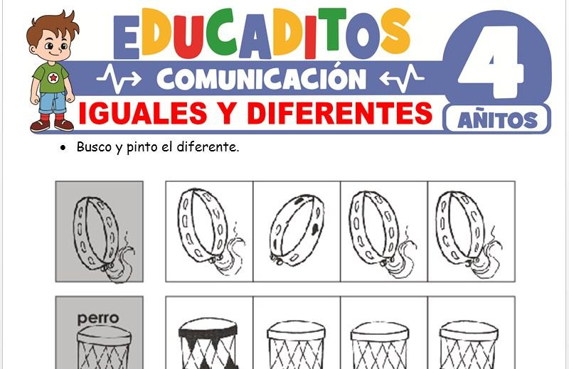 Iguales y Diferentes para Niños de 4 Años