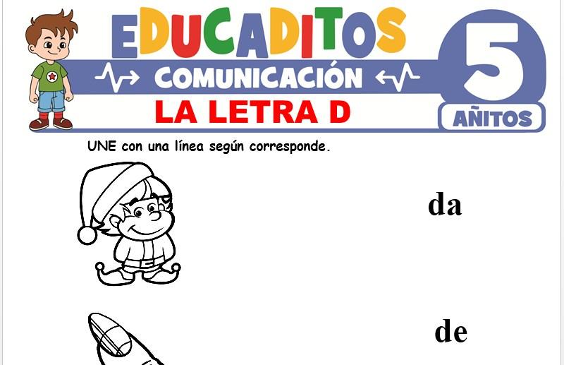 La Letra D para Niños de 5 Años