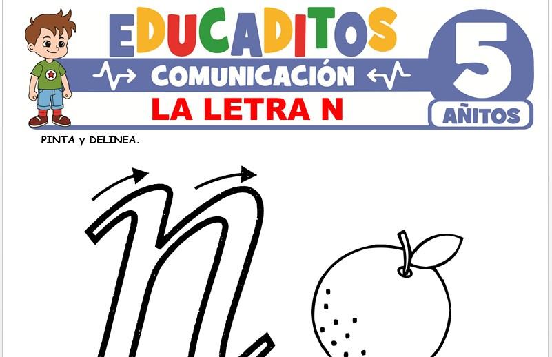 La Letra N para Niños de 5 Años