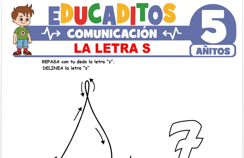 La Letra S para Niños de 5 Años
