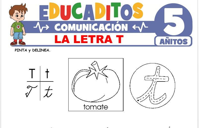 La Letra T para Niños de 5 Años