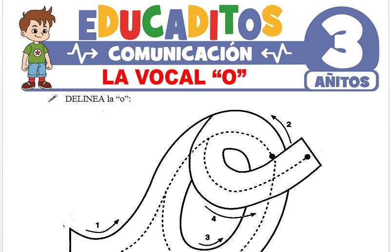 La Vocal O para Niños de 3 Años