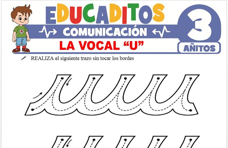La Vocal U para Niños de 3 Años