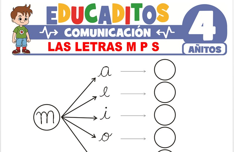 Las Letras M, P y S para Niños de 4 Años