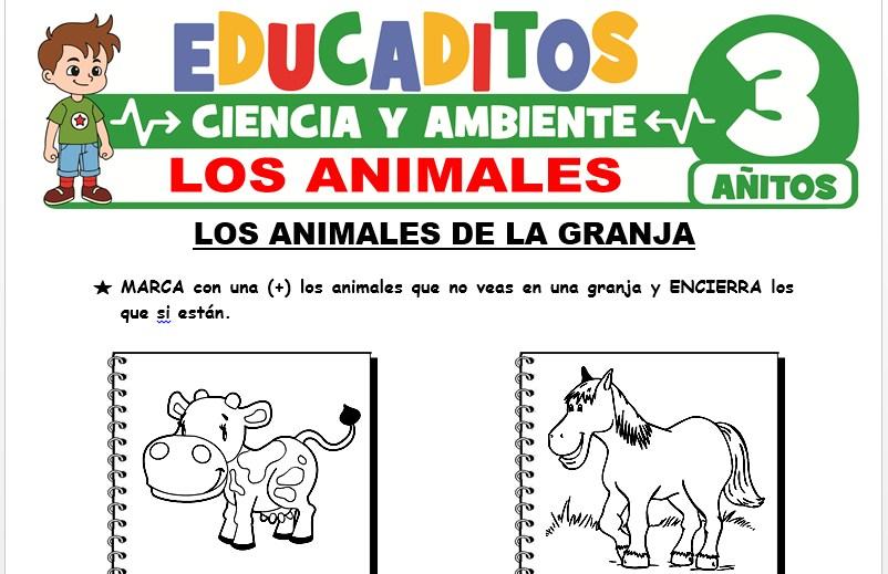 Los Animales para Niños de 3 Años