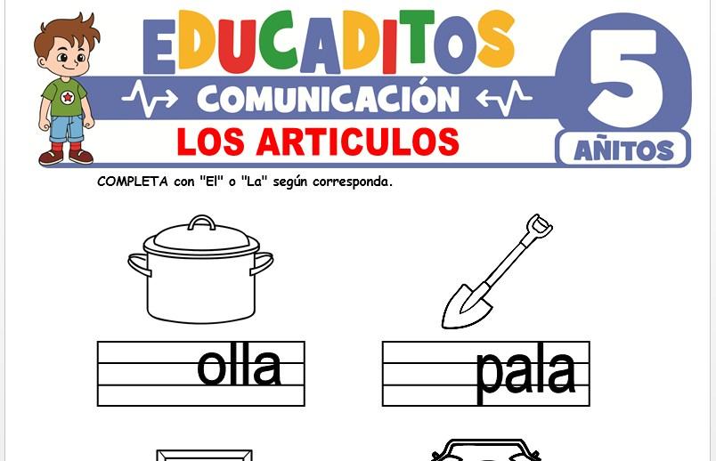 Los Artículos para Niños de 5 Años