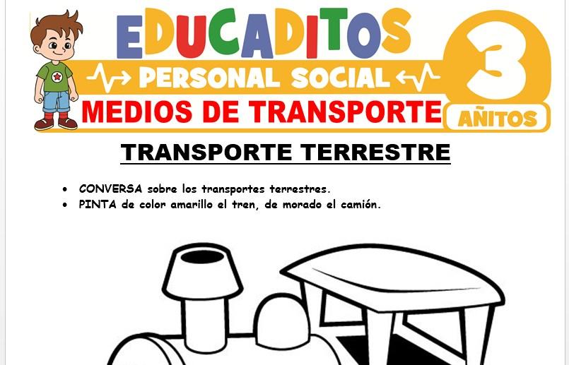 Medios de Transporte para Niños de 3 Años