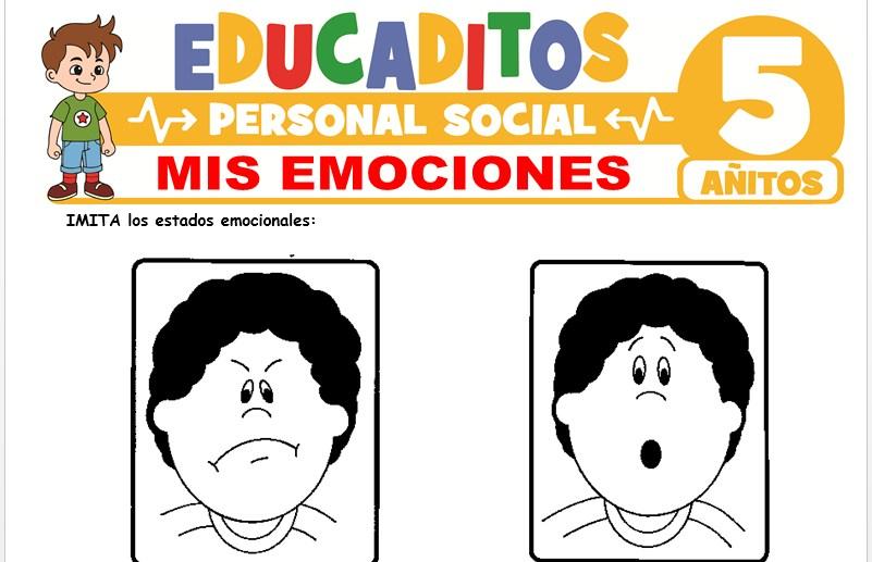 Mis Emociones para Niños de 5 Años