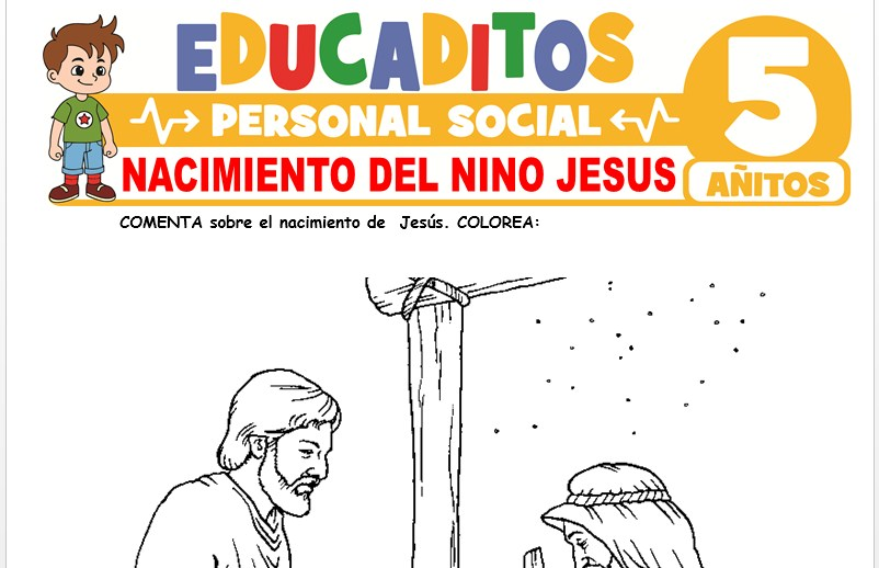Nacimiento del Niño Jesus para Niños de 5 Años