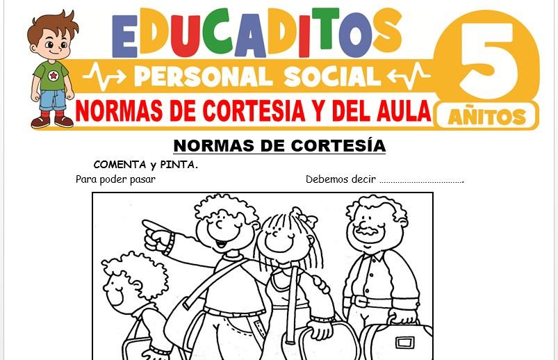 Normas de Cortesía y del Aula para Niños de 5 Años