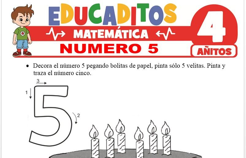 Número 5 para Niños de 4 Años