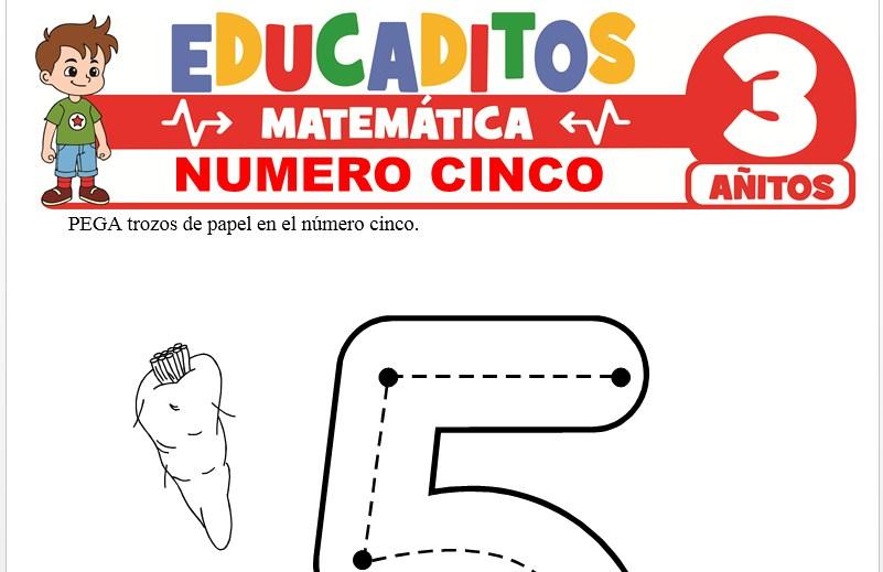 Número Cinco para Niños de 3 Años