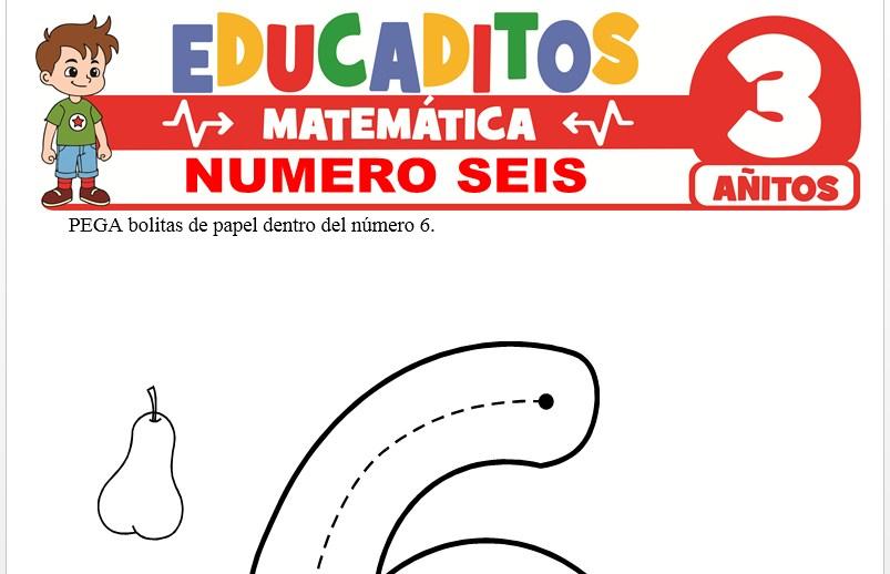 Número Seis para Niños de 3 Años