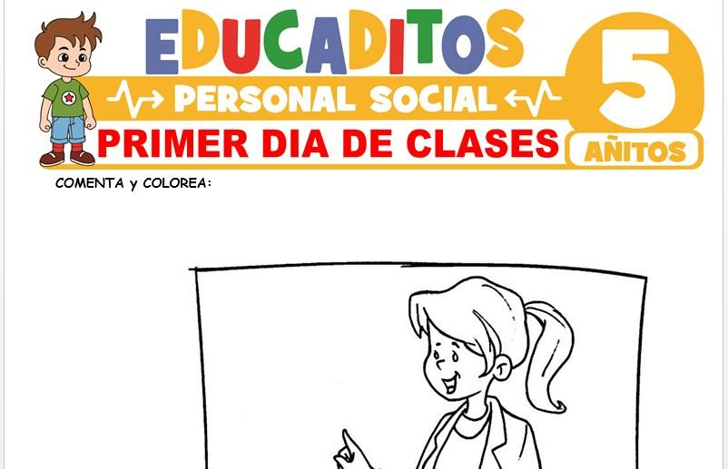 Primer Día de Clases para Niños de 5 Años