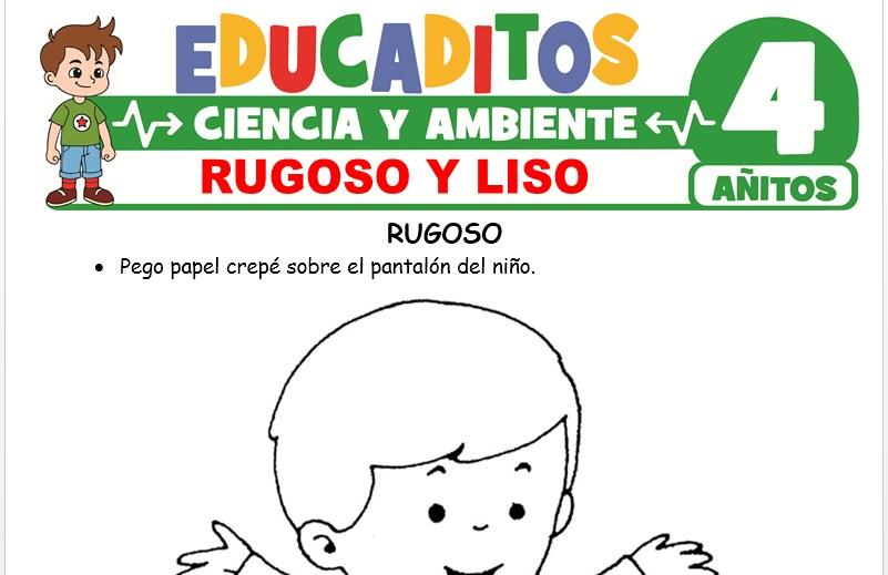 Rugoso y Liso para Niños de 4 Años