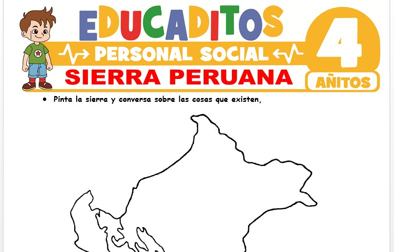 Sierra Peruana para Niños de 4 Años