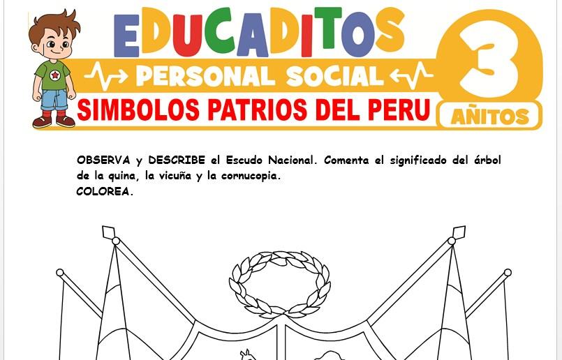 Símbolos Patrios del Perú para Niños de 3 Años