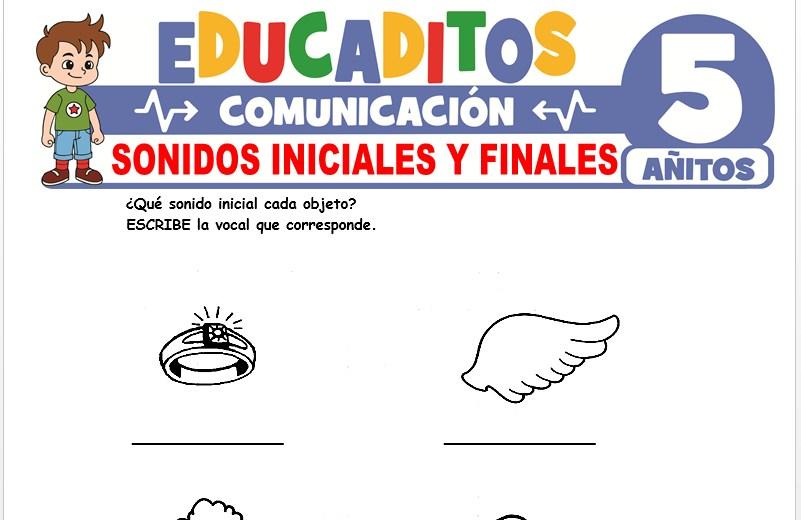 Sonidos Iniciales y Finales para Niños de 5 Años
