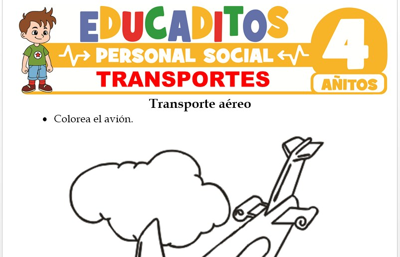 Transportes para Niños de 4 Años