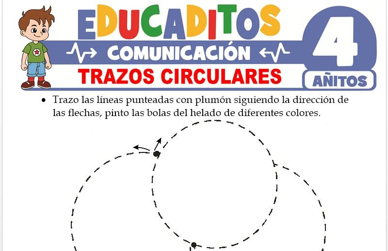 Trazos Circulares para Niños de 4 Años